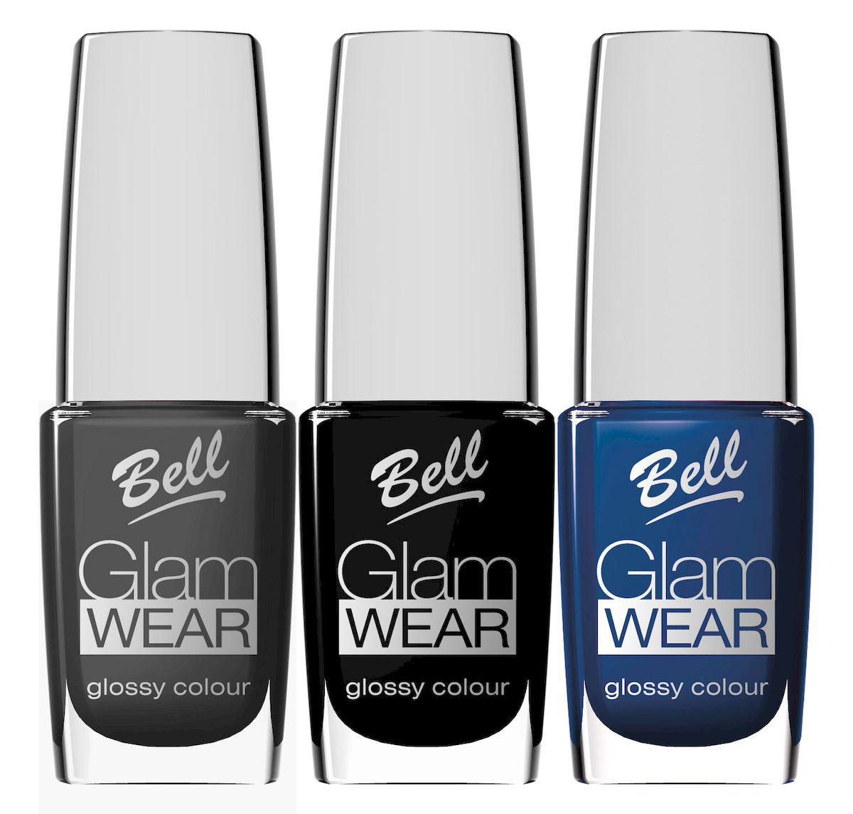 Bell Набор устойчивых лаков для ногтей с глянцевым эффектом Glam Wear Nail: тон №412, тон №503, тон №504, 30 мл
