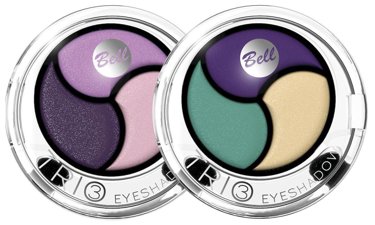 Bell Набор теней для век Trio Eyeshadow, трехцветные: тон №4, тон №5, 8 млBsp38Инновационная технология обеспечивает насыщенность цвета, удобство аппликации, а также необыкновенную стойкость. Тени содержат пигменты, которые находятся в капсуле с маслом жожоба, обладающим увлажняющими свойствами, гарантируя кремовый эффект. Тени представлены в шести цветовых наборах, которые позволят создать идеальный макияж глаз.