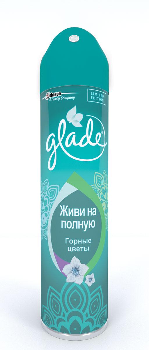 Освежитель воздуха Glade Живи на полную, горные цветы, 300 мл684578