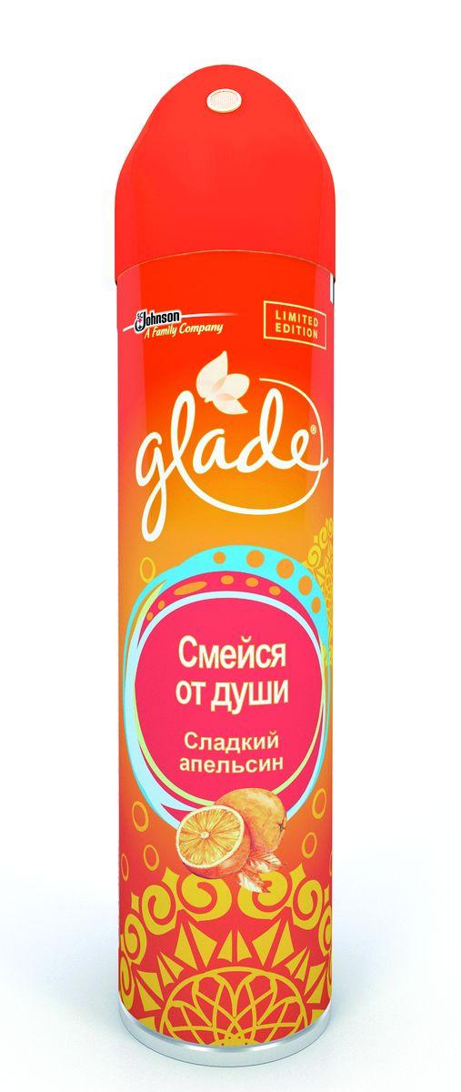 Освежитель воздуха Glade Смейся от души, сладкий апельсин, 300 мл684579
