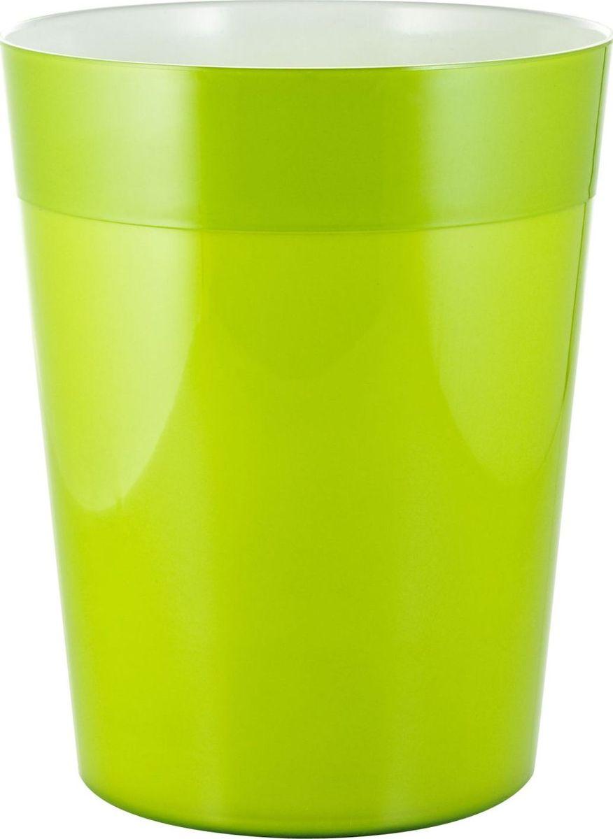 Ведро мусорное Ridder Neon, цвет: зеленый, 5 л22020605Высококачественные немецкие аксессуары для ванных комнат. Данная серия изготавливается из акрилового стекла. Объем: 5 л.