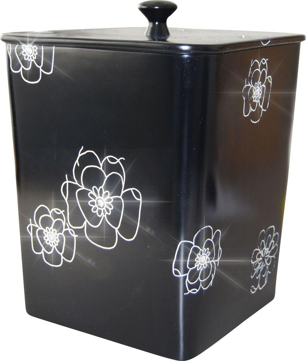 Контейнер для мусора Ridder Diamond, цвет: черный, 8,5 л22160610Изделия данной серии устойчивы к ультрафиолету, т.к. изготавливаются из полирезины. Экологичная полирезина - это твердый многокомпонентный материал на основе синтетической смолы, с добавлением каменной крошки и красящих пигментов.