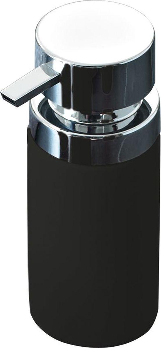Дозатор для жидкого мыла Ridder Elegance, цвет: черный22220510Дозатор для жидкого мыла Ridder, изготовленный из керамики и стали, отлично подойдет для вашей ванной комнаты. Такой аксессуар очень удобен в использовании, достаточно лишь перелить жидкое мыло в дозатор, а когда необходимо использование мыла, легким нажатием выдавить нужное количество. Дозатор для жидкого мыла Ridder создаст особую атмосферу уюта и максимального комфорта в ванной. Объем дозатора: 210 мл.