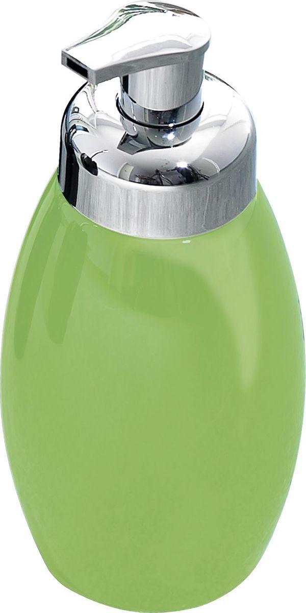 Дозатор для жидкого мыла Ridder Shiny, цвет: зеленый22230505Серия Shiny изготавливается из высококачественной керамики и покрывается слоем экологичного лака. Изделия устойчивы к ультрафиолету. Объём: 500 мл.