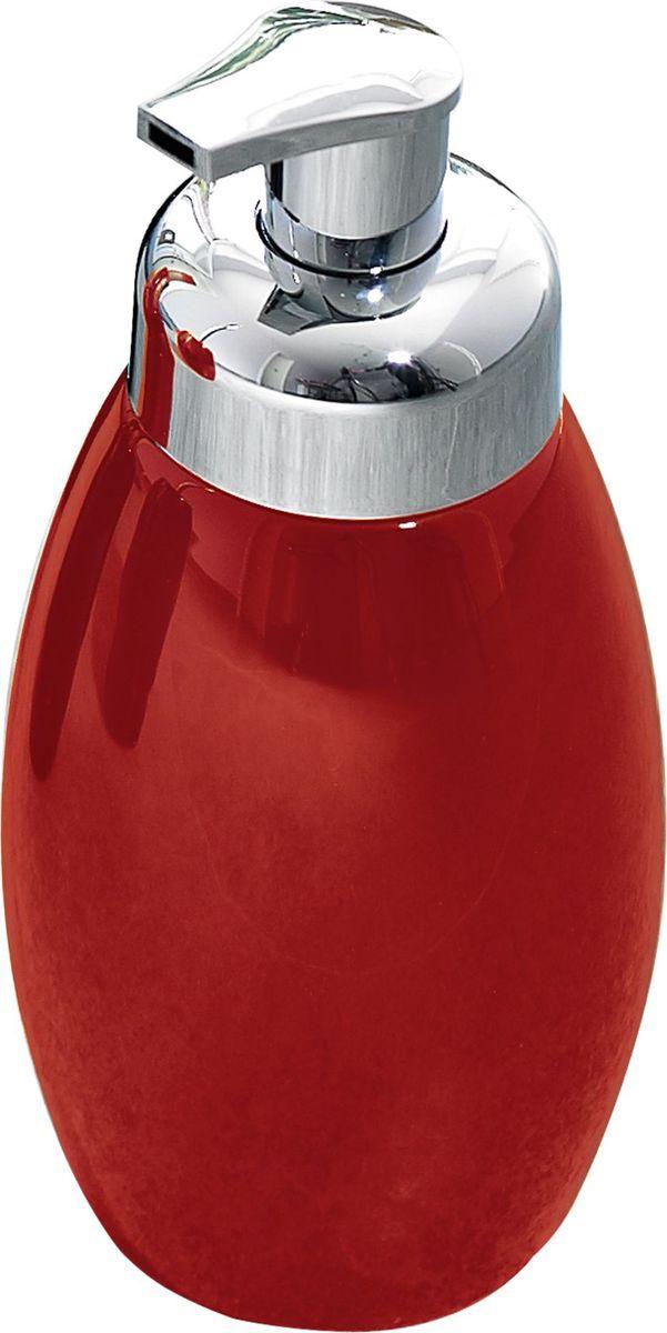 Дозатор для жидкого мыла Ridder Shiny, цвет: красный22230506Дозатор для жидкого мыла Ridder, изготовленный из керамики и стали, отлично подойдет для вашей ванной комнаты. Такой аксессуар очень удобен в использовании, достаточно лишь перелить жидкое мыло в дозатор, а когда необходимо использование мыла, легким нажатием выдавить нужное количество. Дозатор для жидкого мыла Ridder создаст особую атмосферу уюта и максимального комфорта в ванной. Объем дозатора: 500 мл.