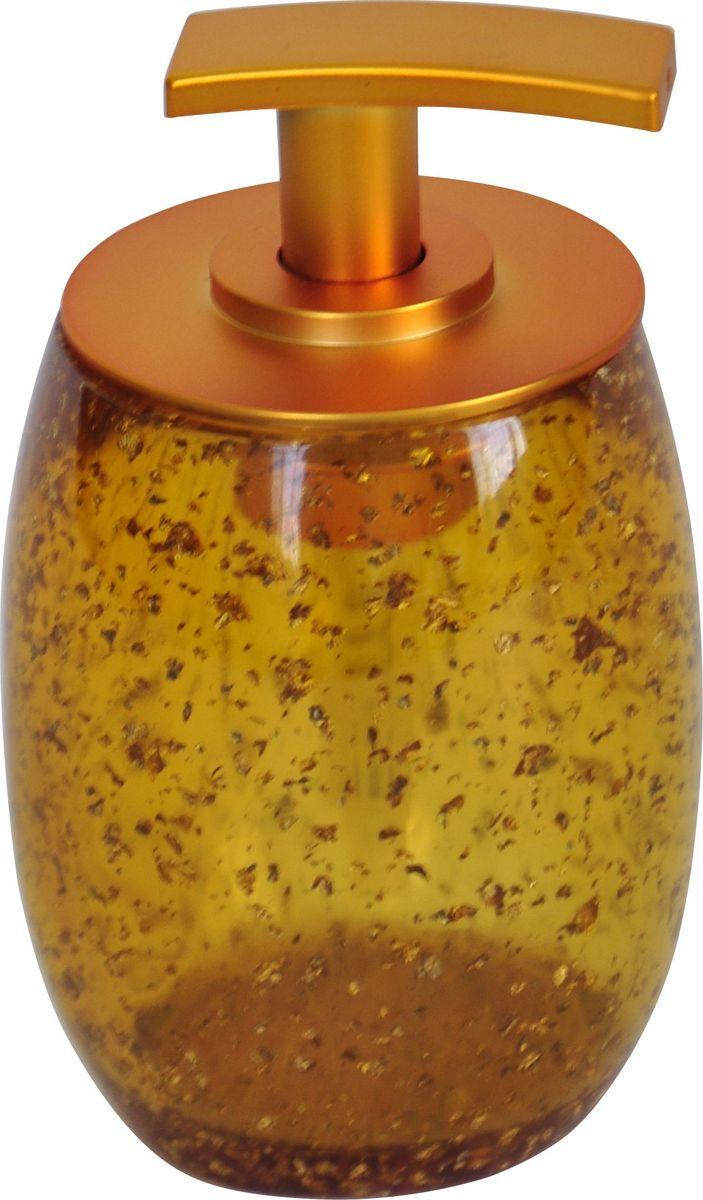 Дозатор для жидкого мыла Ridder Danzig, цвет: золотой22260524Изделия данной серии устойчивы к ультрафиолету, т.к. изготавливаются из добротной полирезины. Экологичная полирезина - это твердый многокомпонентный материал на основе синтетической смолы, с добавлением каменной крошки и красящих пигментов.