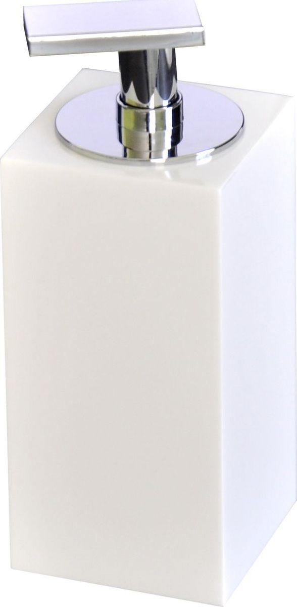 Дозатор для жидкого мыла Ridder Rom, цвет: белый22290501Изделия данной серии устойчивы к ультрафиолету, т.к. изготавливаются из добротной полирезиры Экологичная полирезина — это твердый многокомпонентый материал на основе синтетической смолы, с добавлением каменной крошки и красящих пигментов