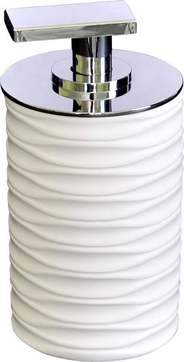 Дозатор для жидкого мыла Ridder Swing, цвет: белый22300501Изделия данной серии устойчивы к ультрафиолету, т.к. изготавливаются из добротной полирезиры Экологичная полирезина — это твердый многокомпонентый материал на основе синтетической смолы, с добавлением каменной крошки и красящих пигментов