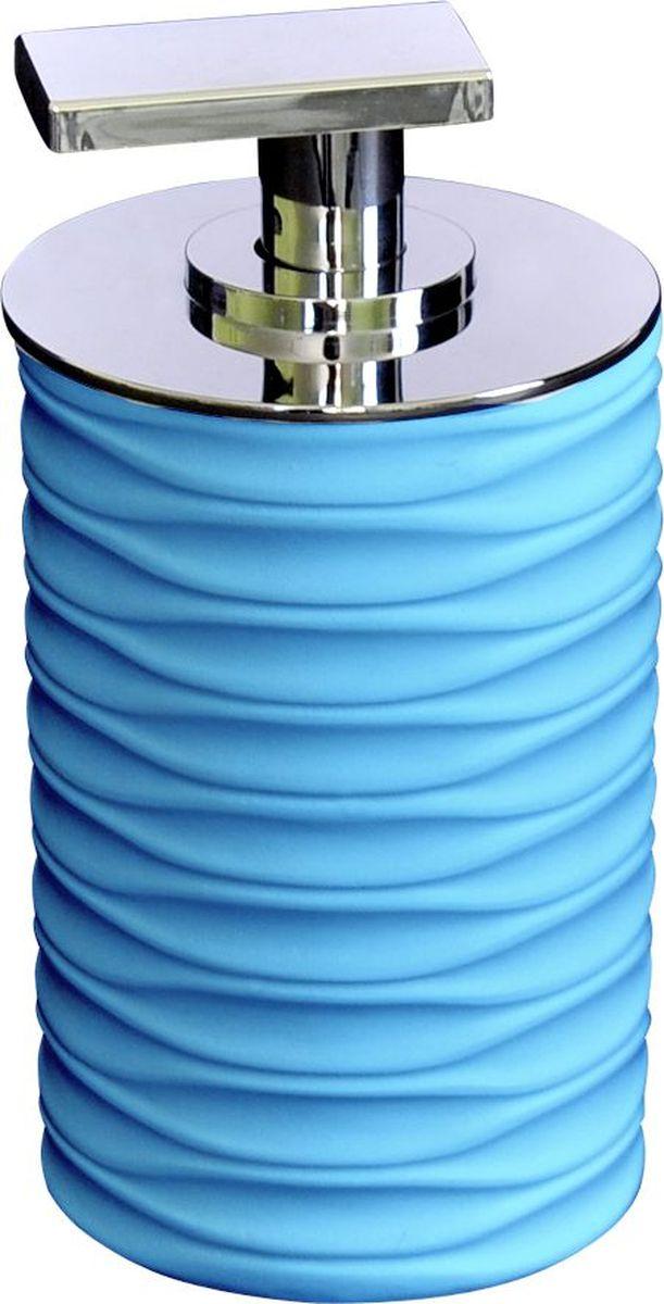 Дозатор для жидкого мыла Ridder Swing, цвет: синий22300515Изделия данной серии устойчивы к ультрафиолету, т.к. изготавливаются из добротной полирезиры Экологичная полирезина — это твердый многокомпонентый материал на основе синтетической смолы, с добавлением каменной крошки и красящих пигментов