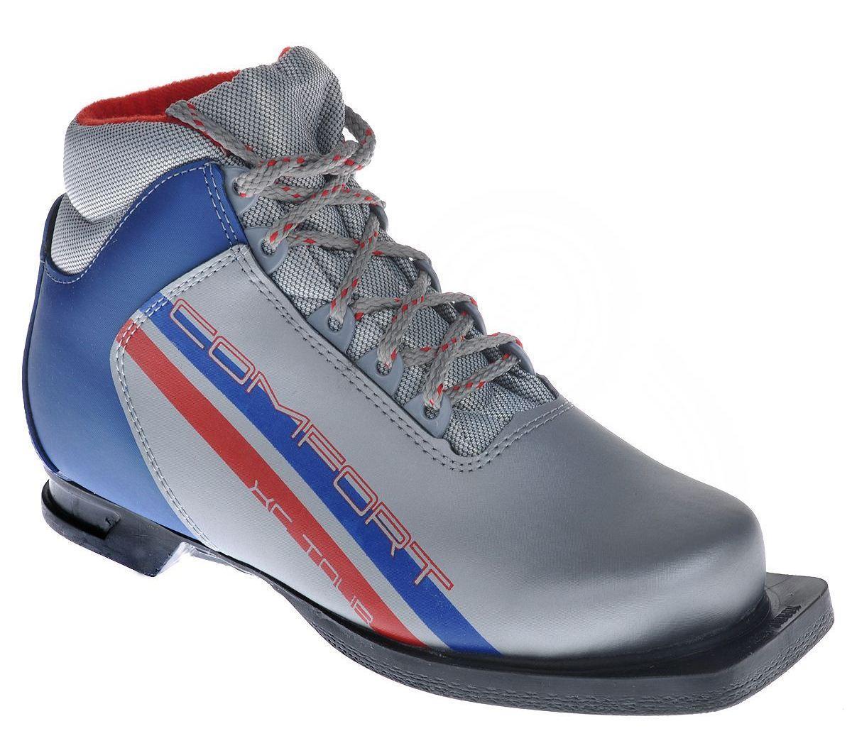 Ботинки лыжные Marax Comfort, цвет: серебро-синий. 340. Размер 44