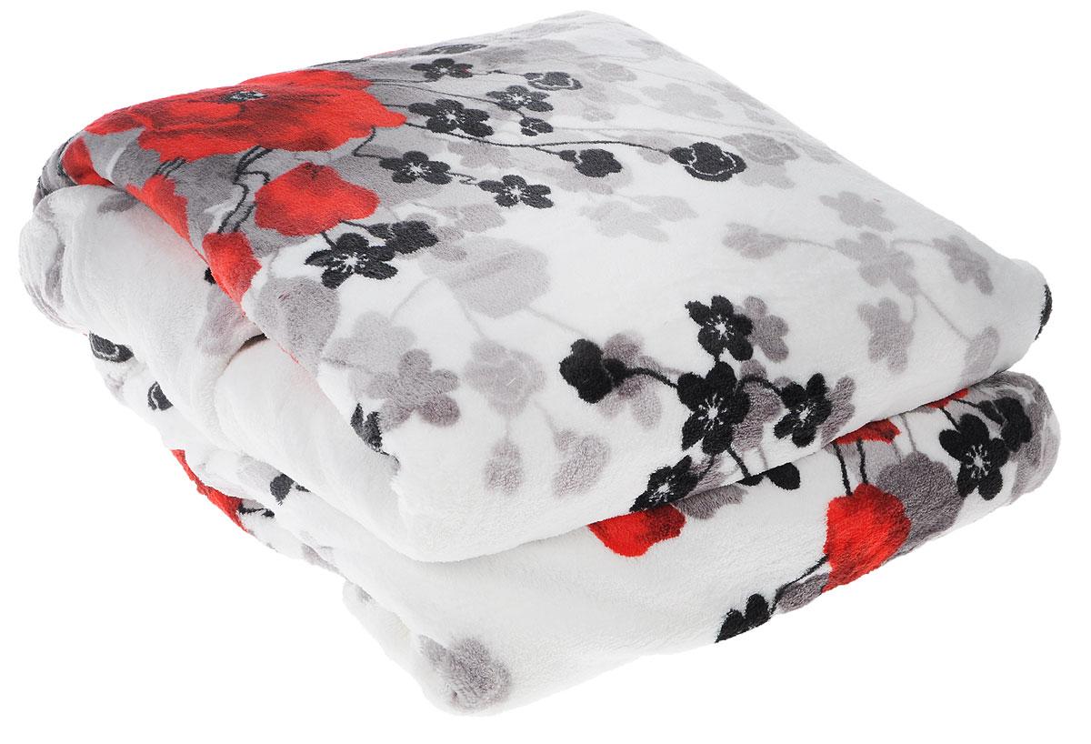 Плед Absolute, цвет: молочный, красный, 180 х 230 см46787Плед Absolute - это идеальное решение для вашего интерьера! Он порадует вас легкостью, нежностью и оригинальным дизайном! Плед выполнен из 100% полиэстера и оформлен ярким рисунком. Полиэстер считается одной из самых популярных тканей. Это материал синтетического происхождения из полиэфирных волокон. Внешне такая ткань схожа с шерстью, а по свойствам близка к хлопку. Изделия из полиэстера не мнутся и легко стираются. После стирки очень быстро высыхают. Плед - это такой подарок, который будет всегда актуален, особенно для ваших родных и близких, ведь вы дарите им частичку своего тепла! Плотность: 300 г/м2.