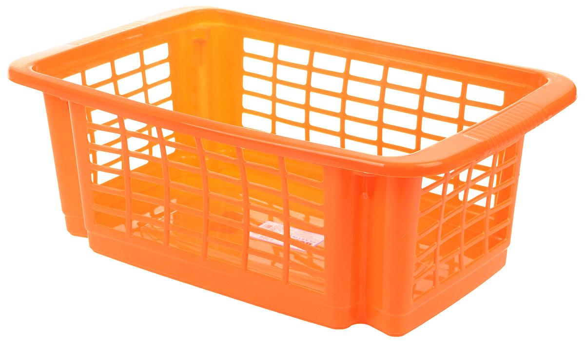 Корзина для хранения Dunya Plastik Стакер, цвет: оранжевый, 12 л. 55075507_оранжевыйКлассическая корзина Dunya Plastik Стакер, изготовленная из пластика, предназначена для хранения мелочей в ванной, на кухне, даче или гараже. Позволяет хранить мелкие вещи, исключая возможность их потери. Это легкая корзина со сплошным дном и перфорированными стенками. Корзина имеет специальные выемки внизу и вверху, позволяющие устанавливать корзины друг на друга.