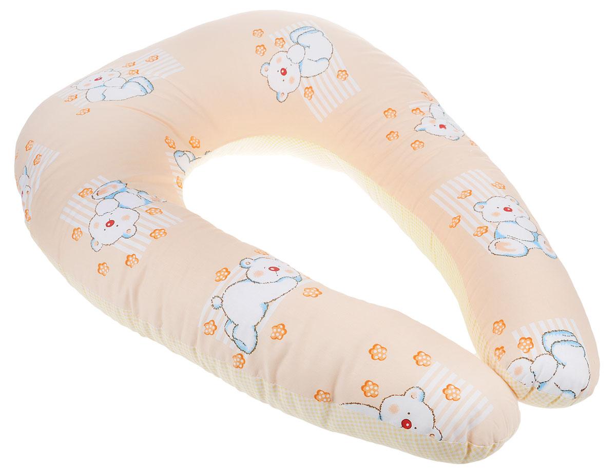 Primavelle Подушка многофункциональная Comfy Baby111060190-10_бежевый, мишкиПодушка многофункциональная Primavelle Comfy Baby подарит удобство малышу и его родителям. Чехол изготовлен из бязи (100% хлопок), наполнитель - экофайбер. Будущая мама может использовать подушку во время беременности: для сна, при выполнении предродовых упражнений или просто для комфортного отдыха. С появлением малыша подушка будет незаменима при кормлении: размещенная вокруг талии мамы, подушка позволит максимально удобно расположить ребенка, тем самым уменьшая нагрузку на позвоночник. Позже Comfy Baby может пригодиться малышу, когда он начнет садиться, поддерживая его спину. Изделие легко стирается в стиральной машине и быстро сохнет.