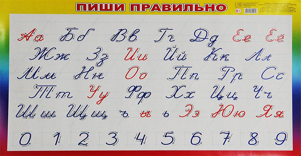 Алфея Обучающий плакат Пиши правильно 440 х 590 мм