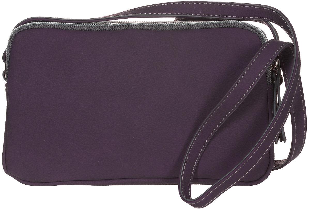 Сумка женская Jane Shilton, цвет: пурпурный. 21562156Стильная женская сумка Jane Shilton не оставит вас равнодушной благодаря своему дизайну и практичности. Она изготовлена из качественной искусственной кожи. На тыльной стороне расположен удобный вшитый карман на молнии. Сумка оснащена удобным плечевым ремнем, длина которого регулируется с помощью пряжки. Изделие закрывается на удобную молнию и имеет три главных отделения. Внутри расположен вшитый карман на молнии для мелочи. Такая модная и практичная сумка завершит ваш образ и станет незаменимым аксессуаром в вашем гардеробе.