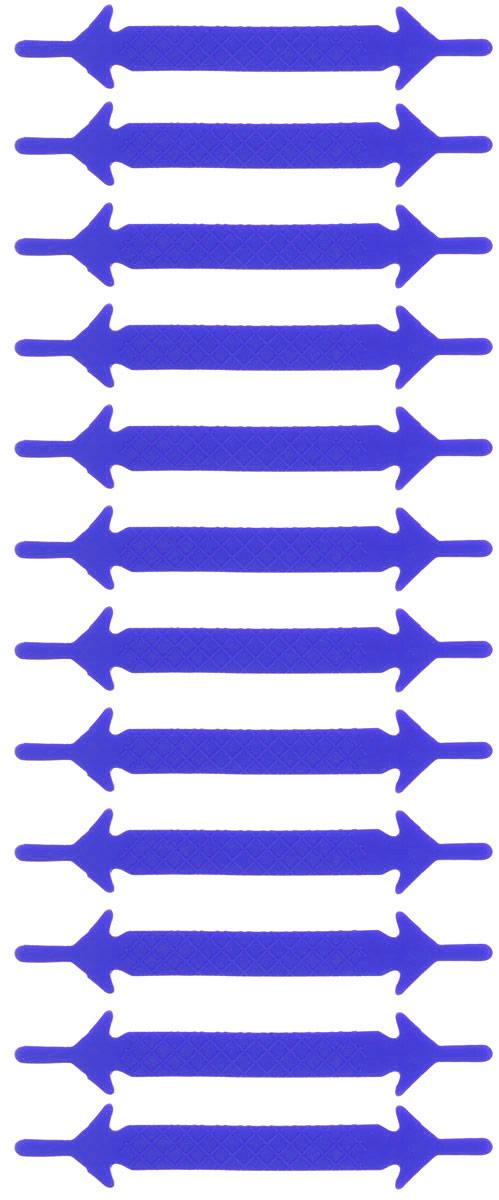 Шнурки силиконовые Hilace Group, цвет: синий, 12 шт2210Оригинальные силиконовые шнурки Hilace Group не оставят вас равнодушными благодаря своему яркому дизайну и практичности. Они изготовлены из качественного термостойкого силикона. Такие шнурки упростят надевание обуви и надежно зафиксируют ее без стягивания стопы, выдержат низкие и высокие температуры, подойдут как взрослым, так и детям.