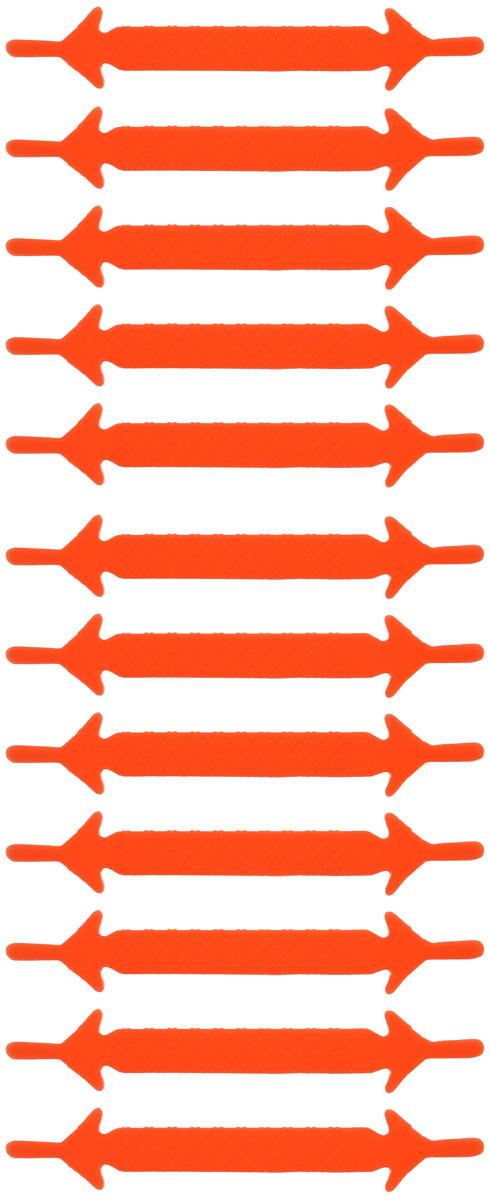 Шнурки флуоресцентные силиконовые Hilace Group, цвет: оранжевый, 12 шт2357Оригинальные флуоресцентные силиконовые шнурки Hilace Group не оставят вас равнодушными благодаря своему яркому дизайну и практичности. Они изготовлены из качественного термостойкого силикона. Также они обладают флуоресцентными свойствами и светятся в темноте. Такие шнурки упростят надевание обуви и надежно зафиксируют ее без стягивания стопы, выдержат низкие и высокие температуры, подойдут как взрослым, так и детям.