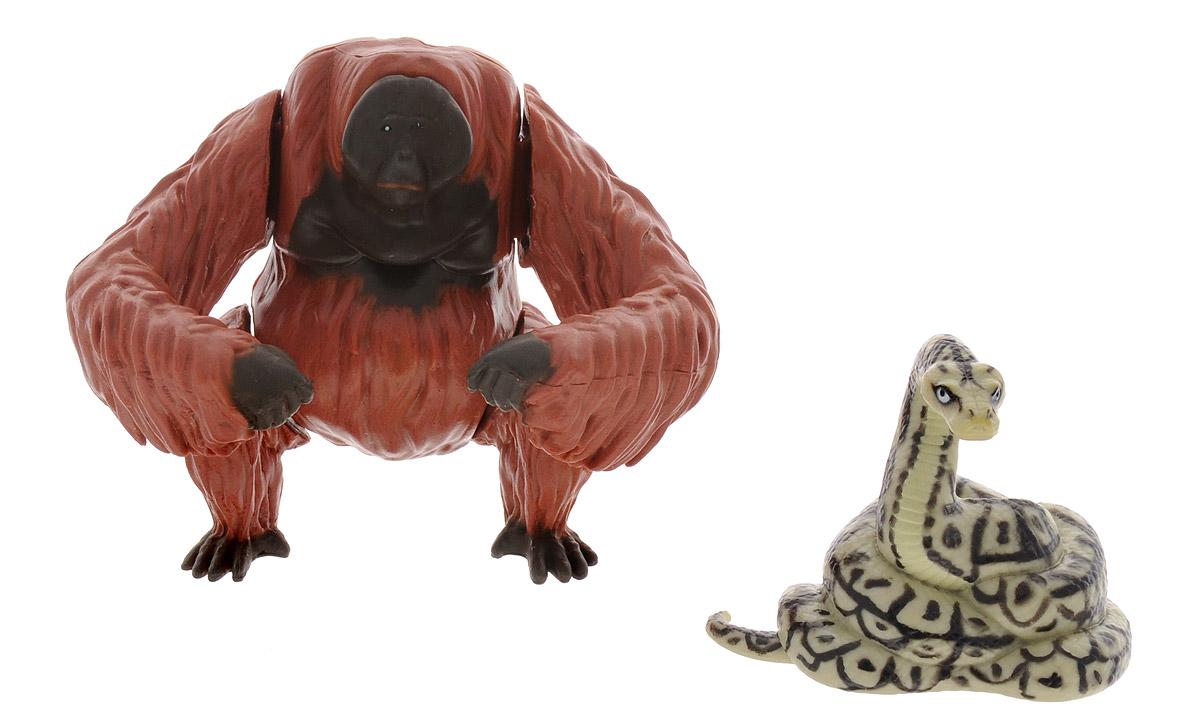 Jungle Book Набор фигурок Король Луи и Каа23255_Луи и КааНабор из двух высоко детализированных фигурок персонажей нового мультфильма по мотивам рассказов Редьярда Киплинга Книга Джунглей, который станет отличным подарком для всех, кто знаком с удивительной, замечательной и доброй историей о мальчике, который вырос в джунглях среди диких животных. Новая экранизация Книги Джунглей - это невероятно красивая, зрелищная картина с элементами компьютерной графики, зрелищными спецэффектами и захватывающим сюжетом. Также авторы кинофильма обещают новое прочтение придуманных Киплингом событий и новый взгляд на героев, любимых детьми и взрослыми многих поколений. Набор Jungle Book Король Луи и Каа включает две фигурки, одна из которых является функциональной. Король Луи двигает передними лапами при сжатии задних лап. Фигурка удава Каа не имеет точек артикуляции. Фигурки выполнены из качественных и безопасных материалов.