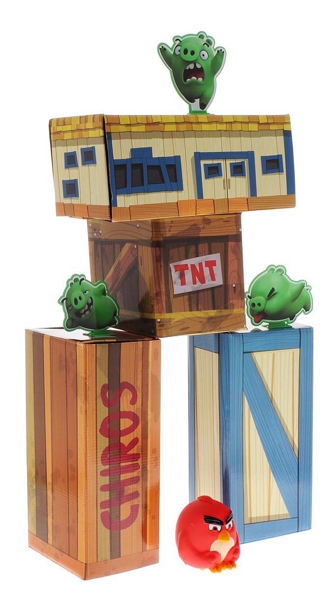 Angry Birds Игровой набор Взрывная птичка90506Потрясающий игровой набор Angry Birds Взрывная птичка, созданный по мотивам популярнейшей компьютерной игры Angry Birds, станет отличным подарком, как для поклонника игры, так и для всех, кто любит игры на ловкость и меткость. В комплект набора входят большие сборные кубики-блоки для постройки сооружения зеленых поросят, плоские мишени в виде поросят и набор наклеек к ним, а также птичка-мяч Red, которой вам предстоит разрушать постройку из блоков. Дополнительные птицы приобретаются отдельно.