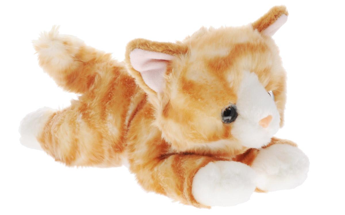 Aurora Мягкая игрушка Котенок рыжий 28 см300-02Мягкая игрушка - очаровательный котенок. Его шерстка мягкая и приятная на ощупь, у него выразительные голубые глазки и белые лапки. Рыжий котенок станет отличным подарком не только для мальчиков и девочек разных возрастов, но и для взрослых! Для малыша же он сможет стать самым настоящим верным другом. Игрушка изготовлена из качественных и безопасных материалов. Специальные гранулы, используемые при ее набивке, способствуют развитию мелкой моторики рук малыша.