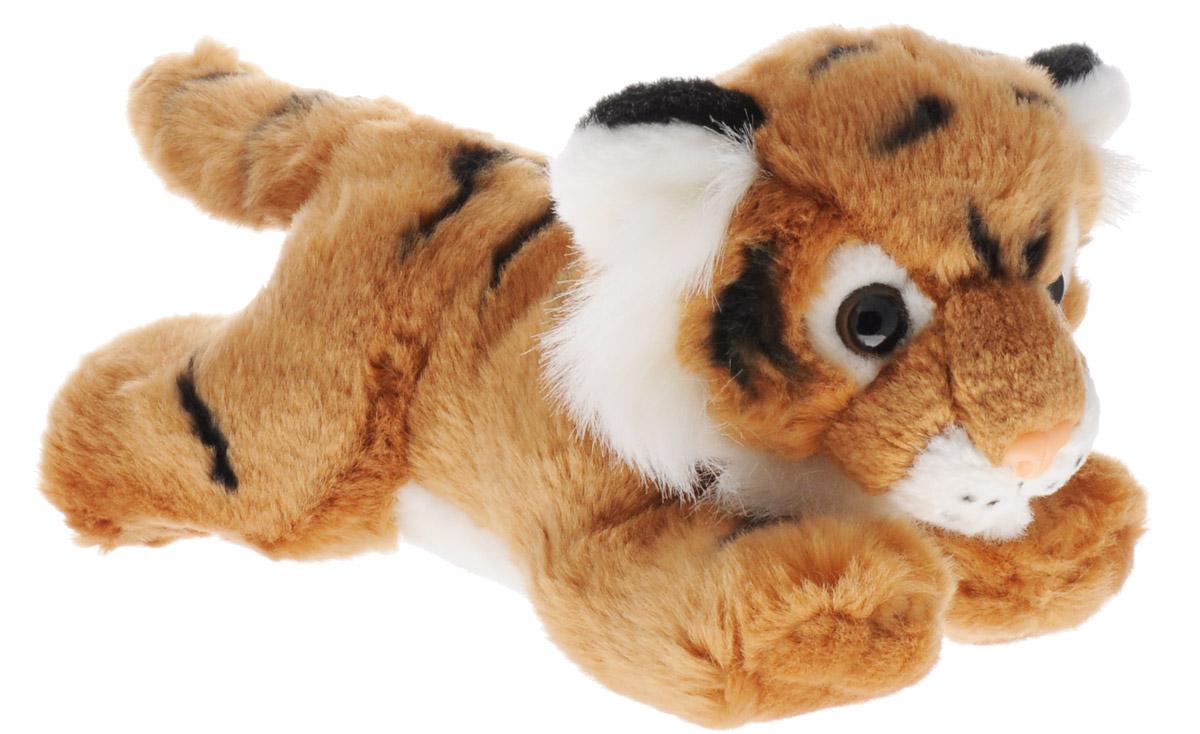 Aurora Мягкая игрушка Тигр коричневый 28 см300-17Мягкая игрушка Aurora - очаровательный тигр коричневого цвета. У него мягкая и приятная на ощупь шерстка, симпатичная мордочка с большими выразительными глазками. Он лежит на животе, вытянув лапки, и выглядит просто очаровательно! Игрушка сможет стать настоящим другом для вашего ребенка. Изделие изготовлено из качественных и безопасных материалов. Специальные гранулы, используемые при ее набивке, способствуют развитию мелкой моторики рук малыша.