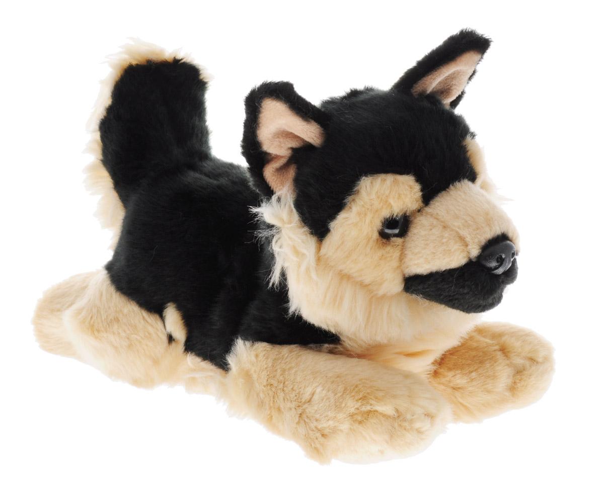 Aurora Мягкая игрушка Немецкая овчарка 28 см300-07Мягкая игрушка - очаровательный щенок породы Немецкая овчарка. Его черно-бежевая шерстка приятная и мягкая на ощупь, не линяет и не скатывается со временем. Песик лежит на животе, вытянув лапки. Щенок станет отличным подарком не только для мальчиков и девочек разных возрастов, но и взрослых! А для ребенка он сможет стать настоящим верным другом! Игрушка изготовлена из качественных и безопасных материалов. Специальные гранулы, используемые при ее набивке, способствуют развитию мелкой моторики рук малыша.