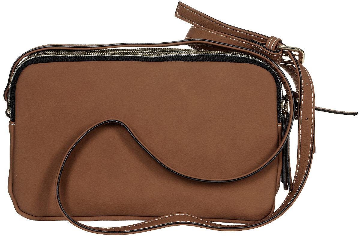 Сумка женская Jane Shilton, цвет: коричневый. 21562156tanСтильная женская сумка Jane Shilton не оставит вас равнодушной благодаря своему дизайну и практичности. Она изготовлена из качественной искусственной кожи. На тыльной стороне расположен удобный вшитый карман на молнии. Сумка оснащена удобным плечевым ремнем, длина которого регулируется с помощью пряжки. Изделие закрывается на удобную молнию и имеет три главных отделения. Внутри расположен вшитый карман на молнии для мелочи. Такая модная и практичная сумка завершит ваш образ и станет незаменимым аксессуаром в вашем гардеробе.