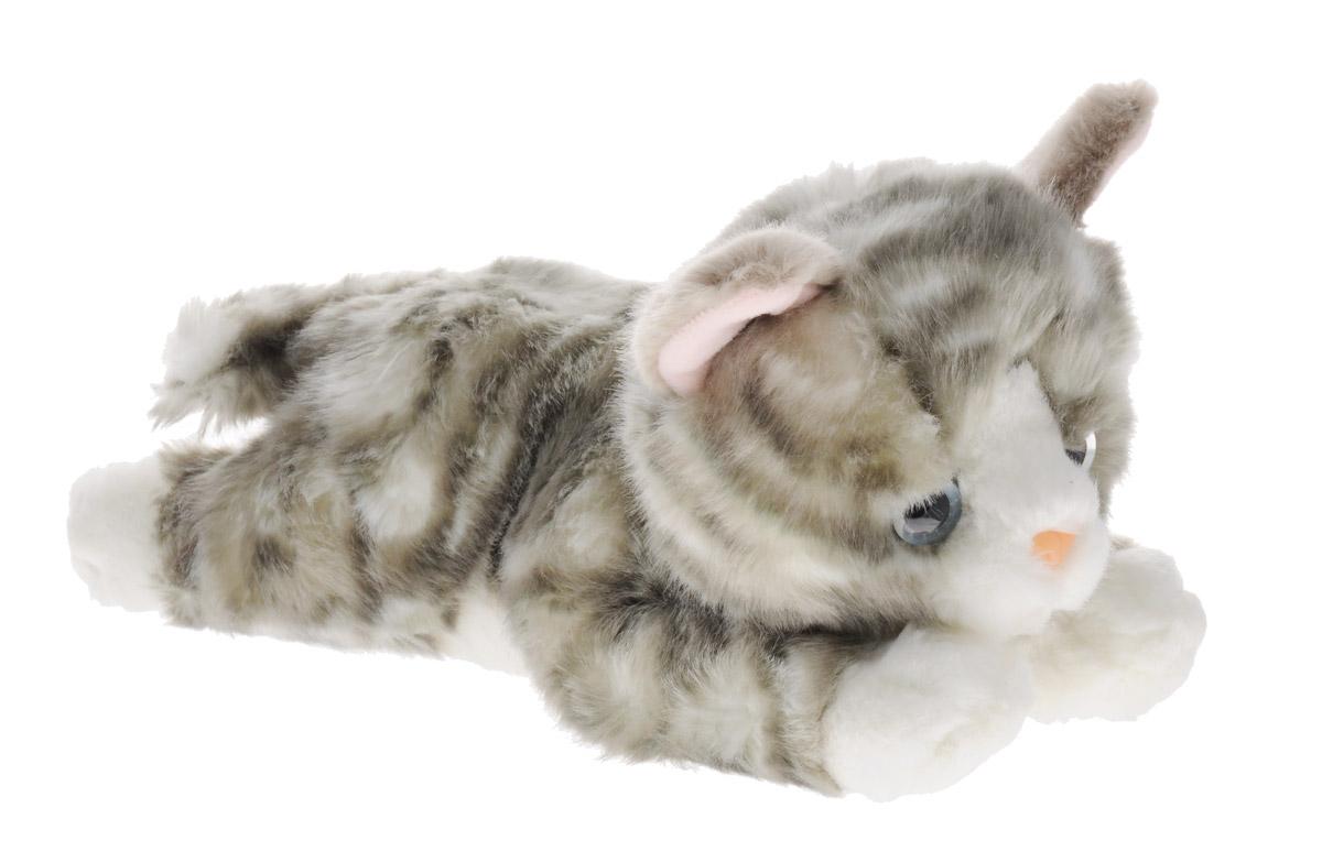 Aurora Мягкая игрушка Котенок серый 28 см300-04Мягкая игрушка Aurora - очаровательный котенок. Его шерстка мягкая и приятная на ощупь, у него выразительные голубые глазки и белые лапки. Котенок станет отличным подарком не только для мальчиков и девочек разных возрастов, но и для взрослых! Для малыша же он сможет стать самым настоящим верным другом. Игрушка изготовлена из качественных и безопасных материалов. Специальные гранулы, используемые при ее набивке, способствуют развитию мелкой моторики рук малыша.