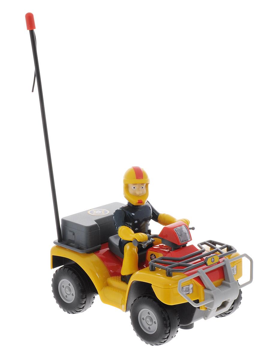 Dickie Toys Квадроцикл на радиоуправлении Пожарный Сэм3099613На примере серий популярного детского мультфильма о пожарном Сэме родители смогут научить ребенка правильно себя вести в экстренных ситуациях и реагировать на различного рода возгорания. Чтобы разыграть увиденное, дети смогут воспользоваться игрушкой, созданной по мотивам мультфильма. Квадроцикл на радиоуправлении Dickie Toys Пожарный Сэм представляет собой яркий квадроцикл с пультом радиоуправления, работающим по принципу двухканального устройства. За рулем транспортного средства расположился главный герой в защитном костюме и в шлеме. Чтобы квадроцикл начал двигаться, необходимо активировать его работу нажатием на кнопку на пульте. У транспортного средства предусмотрены колеса с рельефными протекторами для быстроты передвижения. Игрушка изготовлена из пластика высокого качества, в масштабе 1/24. Пульт управления работает на частоте 27 MHz. Возможные движения игрушки: вперед-назад, влево-вправо, стоп. Радиоуправляемые игрушки развивают моторику ребенка, его логику,...