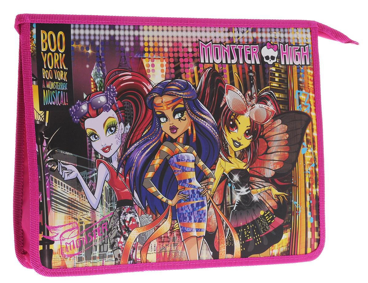 Centrum Папка Monster High 8715387153Папка Centrum Monster High предназначена для хранения различных бумаг формата А4, а также школьных тетрадей и письменных принадлежностей. Папка оформлена яркими изображениями героинь мультфильма Monster High. Изготовлена из прочного пластика и надежно закрывается на застежку-молнию. Папка практична в использовании и надежно сохранит ваши бумаги и сбережет их от повреждений, пыли и влаги. Не рекомендуется детям до 3-х лет.