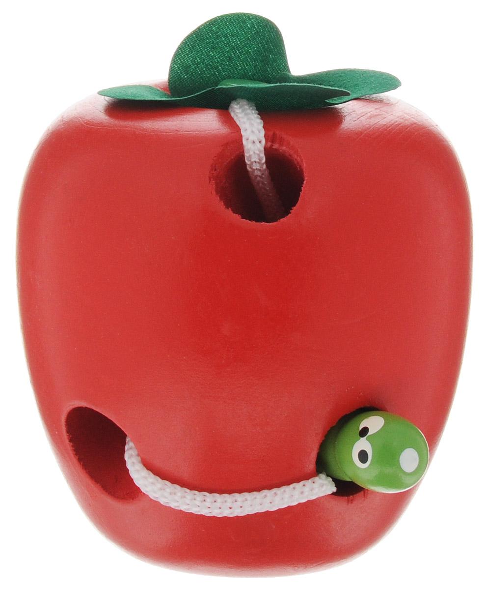 Развивающие деревянные игрушки Шнуровка ЯблокоД261аШнуровка Развивающие деревянные игрушки Яблоко выполнена в виде яблока. Через отверстия в яблоке протянут шнурок, к которому крепится деревянная фигурка червячка. Игрушка поможет ребенку развить моторику, логику и воображение, изучить цвета, формы и окружающий мир.