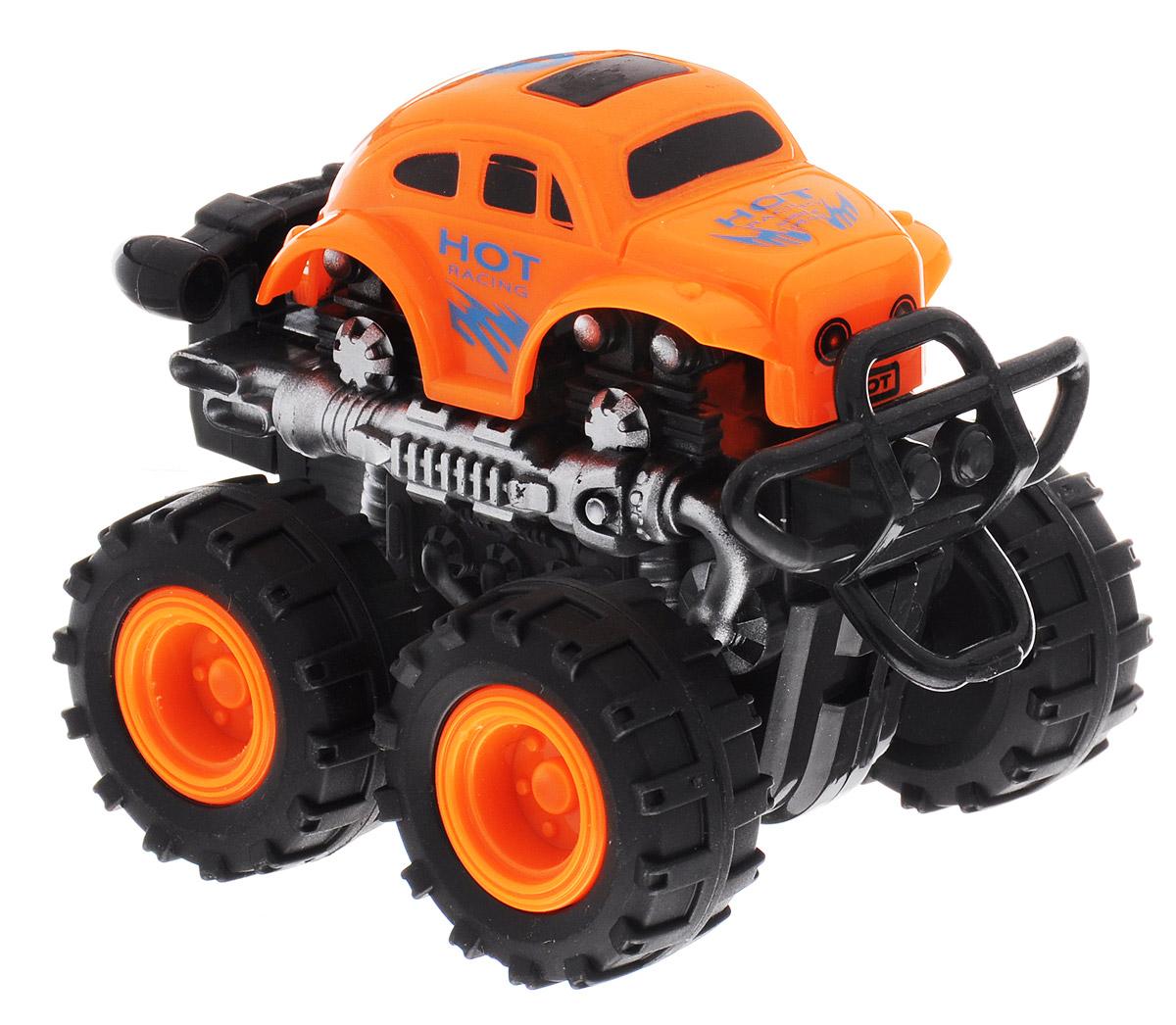 Big Motors Машинка инерционная 4 WD цвет оранжевый806B_оранжевыйИнерционная машинка Big Motors 4WD станет любимой игрушкой вашего малыша. Игрушка представляет собой внедорожник с большими колесами. Машинка оснащена инерционным механизмом. Достаточно немного подтолкнуть машинку вперед или назад, а затем отпустить, и она сама поедет в ту же сторону. Ваш ребенок будет увлеченно играть с этой машинкой, придумывая различные истории. Порадуйте его таким замечательным подарком!