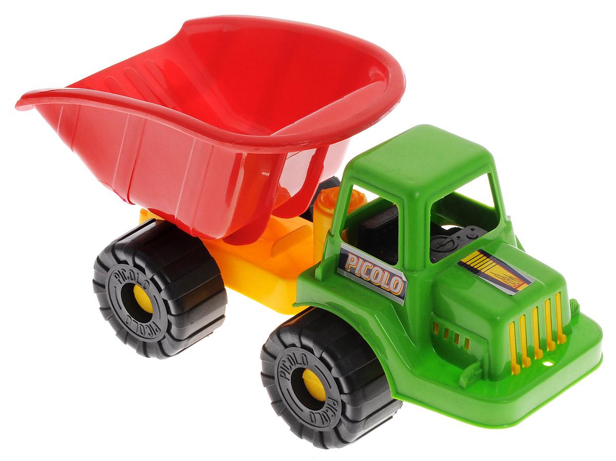 Rabbit Самосвал Пикколо цвет кабины зеленыйП-0065_зеленыйСамосвал Rabbit Пикколо станет прекрасным подарком для ребенка. Игрушка выполнена из прочного высококачественного пластика. Самосвал имеет просторный кузов, который можно наполнить песком или важным игрушечным грузом. Кузов игрушки откидывается, что предоставит малышу дополнительный простор для игры. Колеса машинки оснащены свободным ходом. Все элементы машинки имеют увеличенные размеры, малышу будет удобно играть с ней. Игры с такой машинкой развивают концентрацию внимания, координацию движений, мелкую моторику рук, цветовое восприятие и воображение. Малыш будет с удовольствием играть с этим самосвалом, придумывая различные истории.