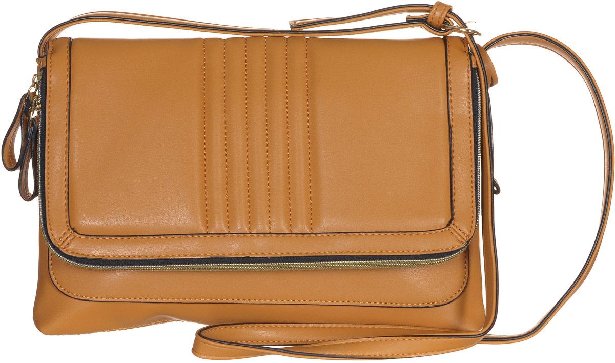 Сумка женская Jane Shilton, цвет: светло-коричневый. 21592159tanСтильная сумка Jane Shilton не оставит вас равнодушной благодаря своему дизайну и практичности. Она изготовлена из качественной искусственной кожи и оформлена декоративной прострочкой. Сумка оснащена удобным плечевым ремнем, длина которого регулируется с помощью пряжки. Изделие закрывается клапаном на магнитную кнопку. Клапан оснащен внутренним вместительным карманом, который закрывается на удобную молнию. Под клапаном расположен открытый накладной карман. Внутри расположено главное отделение, которое содержит один открытый накладной карман для телефона и один вшитый карман на молнии для мелочей. Такая модная и практичная сумка завершит ваш образ и станет незаменимым аксессуаром в вашем гардеробе.