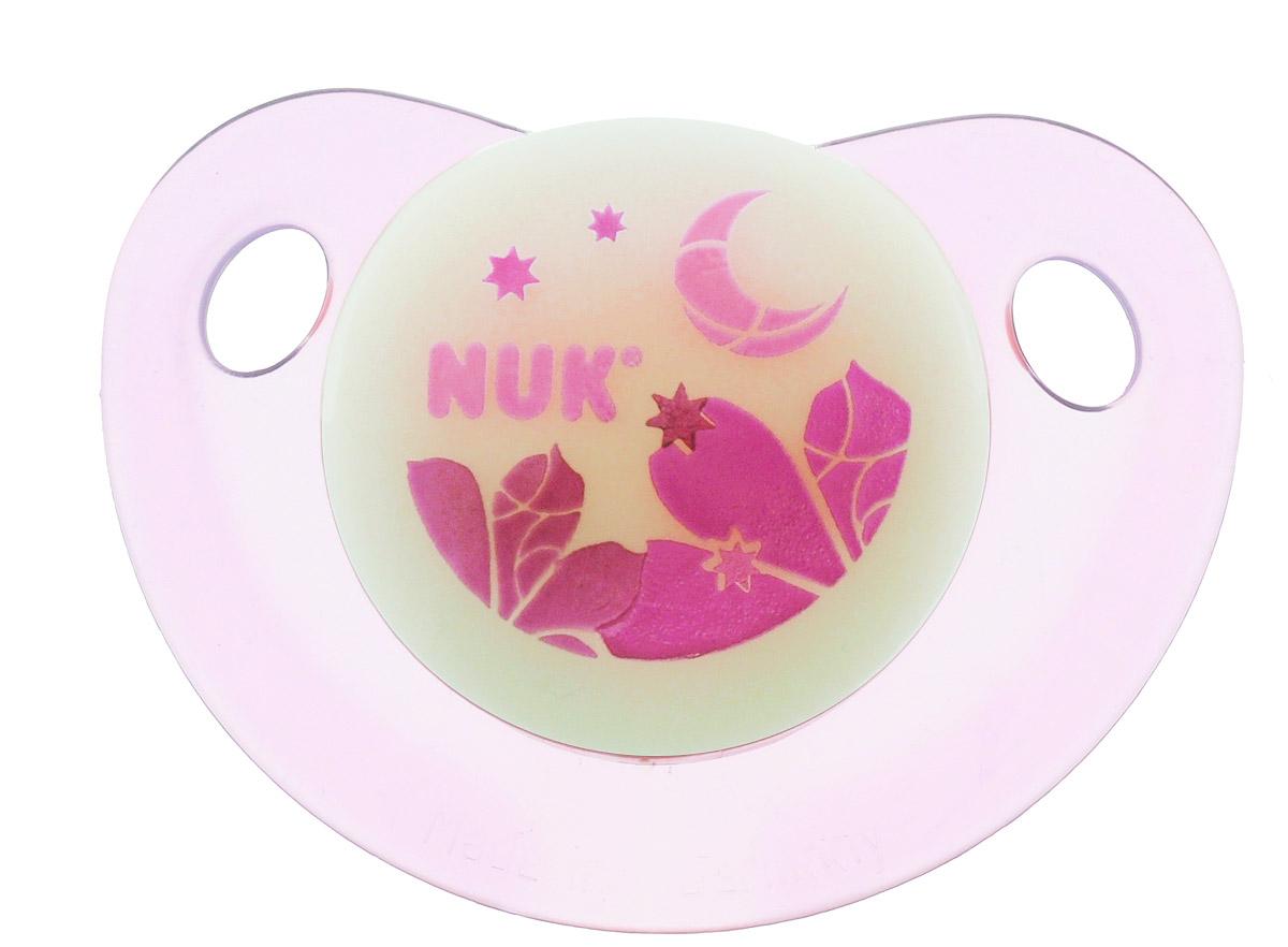 NUK Пустышка латексная для сна Листья и луна ортодонтическая от 0 до 6 месяцев