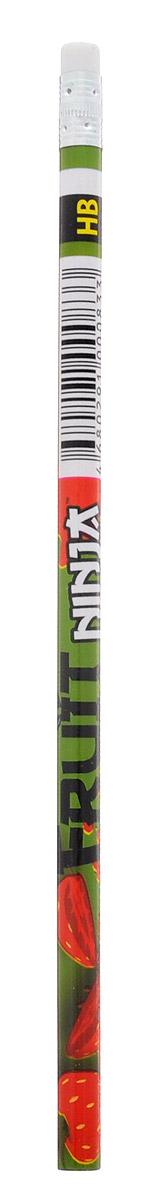 Action! Карандаш чернографитный Fruit Ninja цвет зеленыйFN-ALP117_зеленыйКарандаш с ластиком Action! Fruit Ninja - идеальный инструмент для самовыражения и развития маленького художника! Корпус карандаша выполнен из высококачественной древесины и оформлен изображением сочных фруктов и логотипом игры Fruit Ninja. Карандаш обладает мягким грифелем и позволяет штрихам легко ложиться на бумагу.