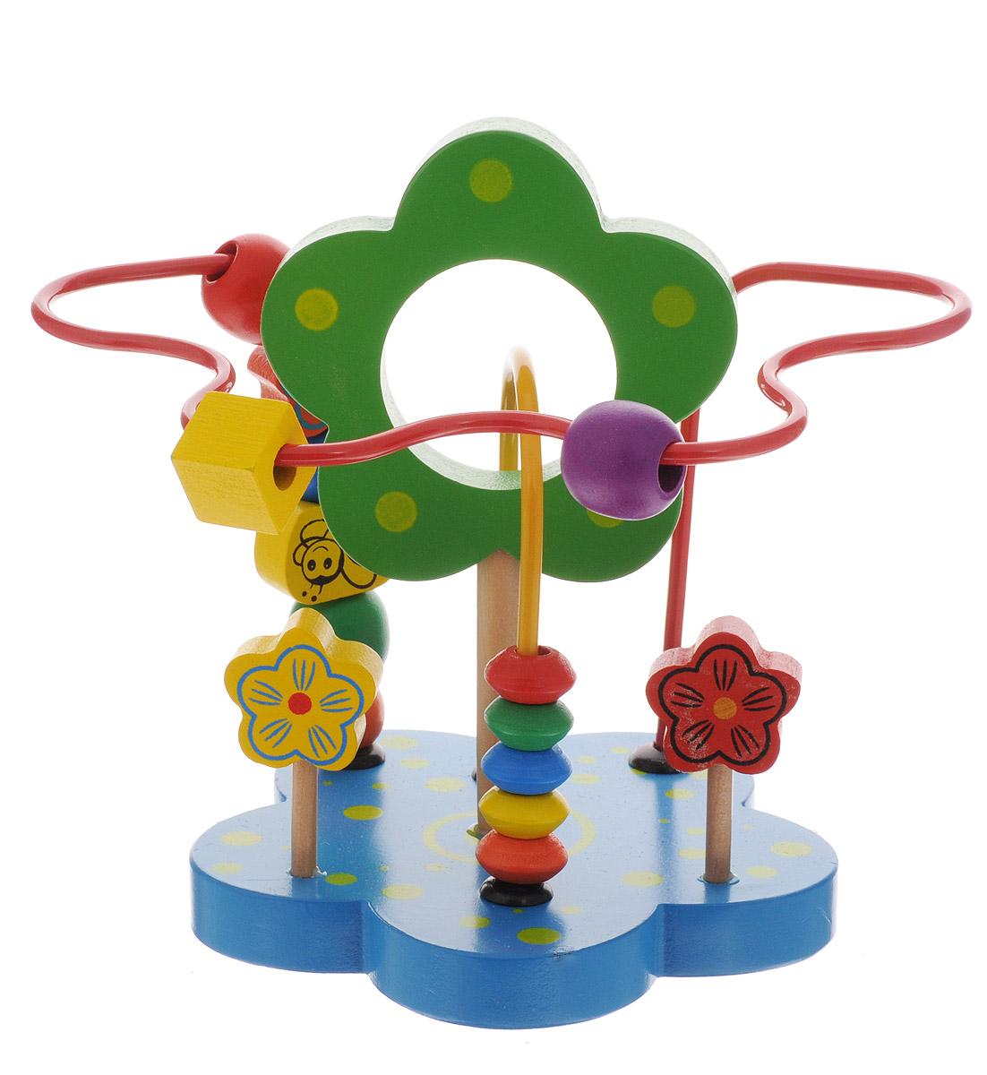 Развивающие деревянные игрушки Лабиринт ЦветокРДИ-Д502аЛабиринт Развивающие деревянные игрушки Цветок - незаменимая игрушка для развития мелкой моторики. Яркий красочный лабиринт станет для ребенка не только любимой игрушкой, но и поможет ему изучить цвета, формы, развить воображение. Качественно обработанные элементы из материалов, прошедших все необходимые сертификационные тесты, ребенок может смело пробовать на режущийся зубок.