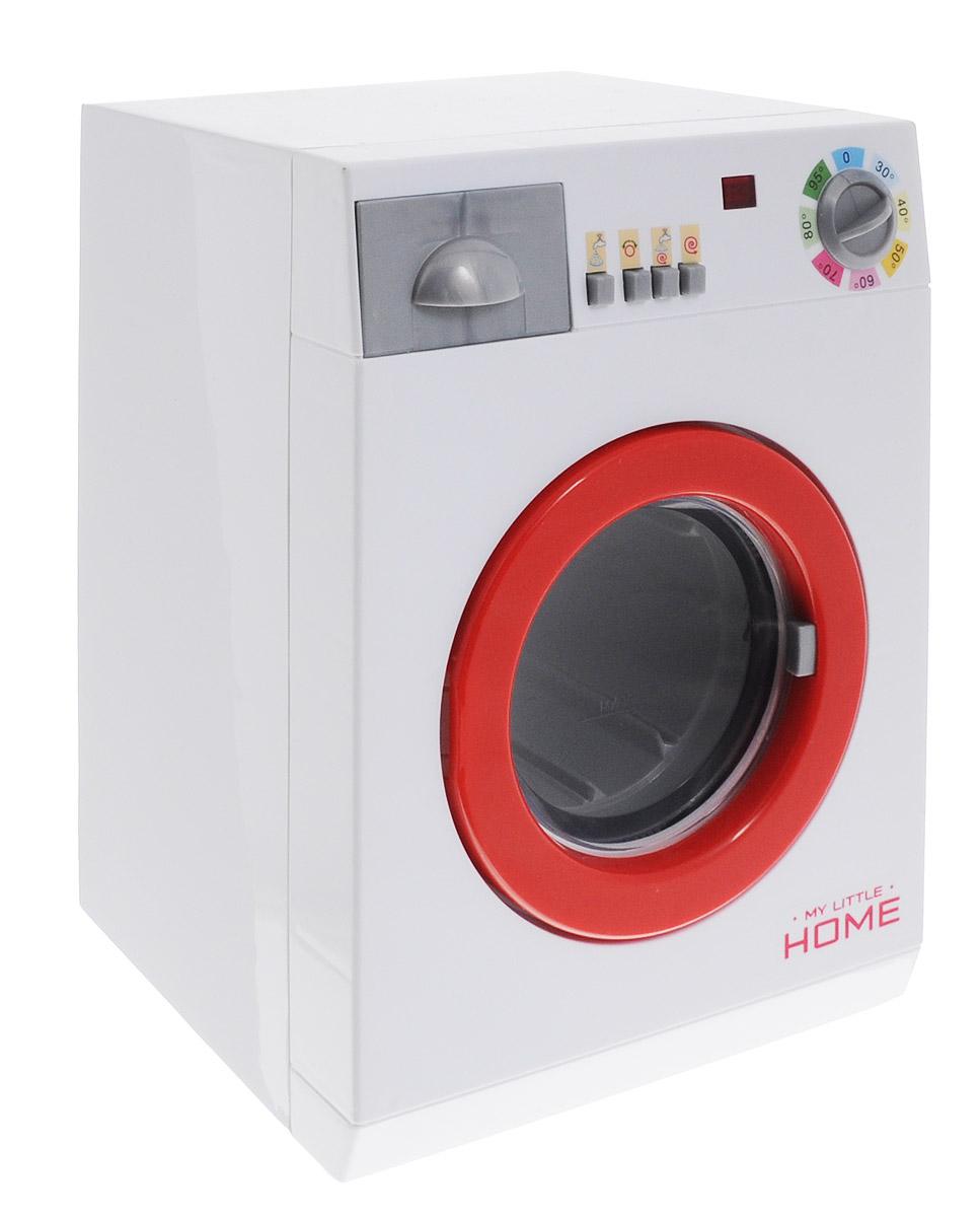 Simba Игрушечная стиральная машина4767490Игрушечная стиральная машина Simba порадует маленькую будущую хозяйку! Это маленькая копия самой настоящей стиральной машины. С этой стиральной машинкой вещи ваших кукол всегда будут чистыми. В машину можно класть вещи и заливать воду до определенного уровня, вода после стирки удаляется через сливной шланг. Стиральная машина обладает световыми и звуковыми эффектами, имеет четыре кнопки, а также переключатель температуры. Изделие выполнено из качественных и безопасных материалов. Необходимо купить 3 батарейки напряжением 1,5V типа R14 (не входят в комплект).