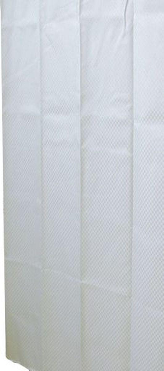 """Штора для ванной комнаты Ridder """"Square"""", цвет: белый, 180 х 200 см"""