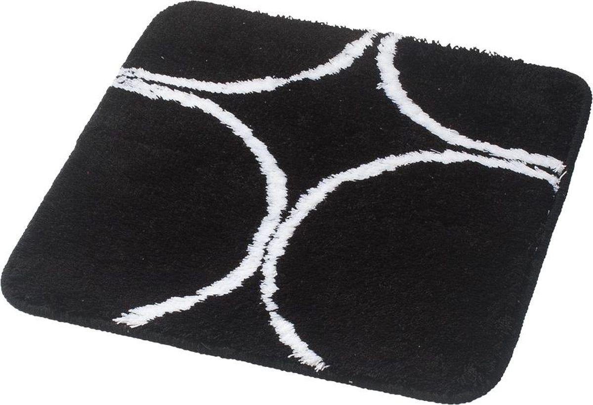 """Коврик для ванной Ridder """"Circle"""", цвет: черный, 55 х 50 см"""