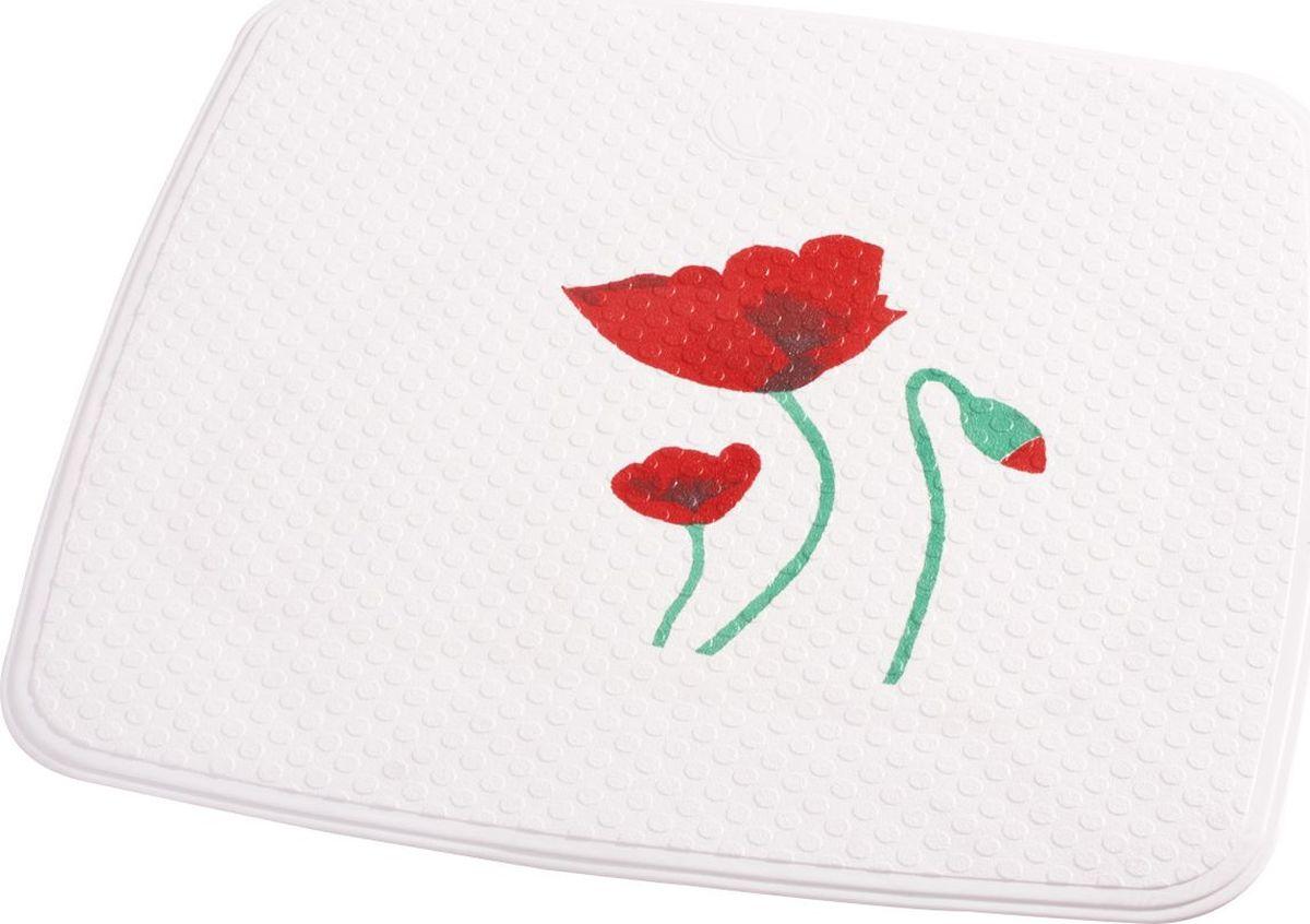 Коврик для ванной Ridder Mohn, противоскользящий, на присосках, цвет: красный, 54 х 54 см коврик для ванной ridder park противоскользящий на присосках цвет бежевый 54 х 54 см