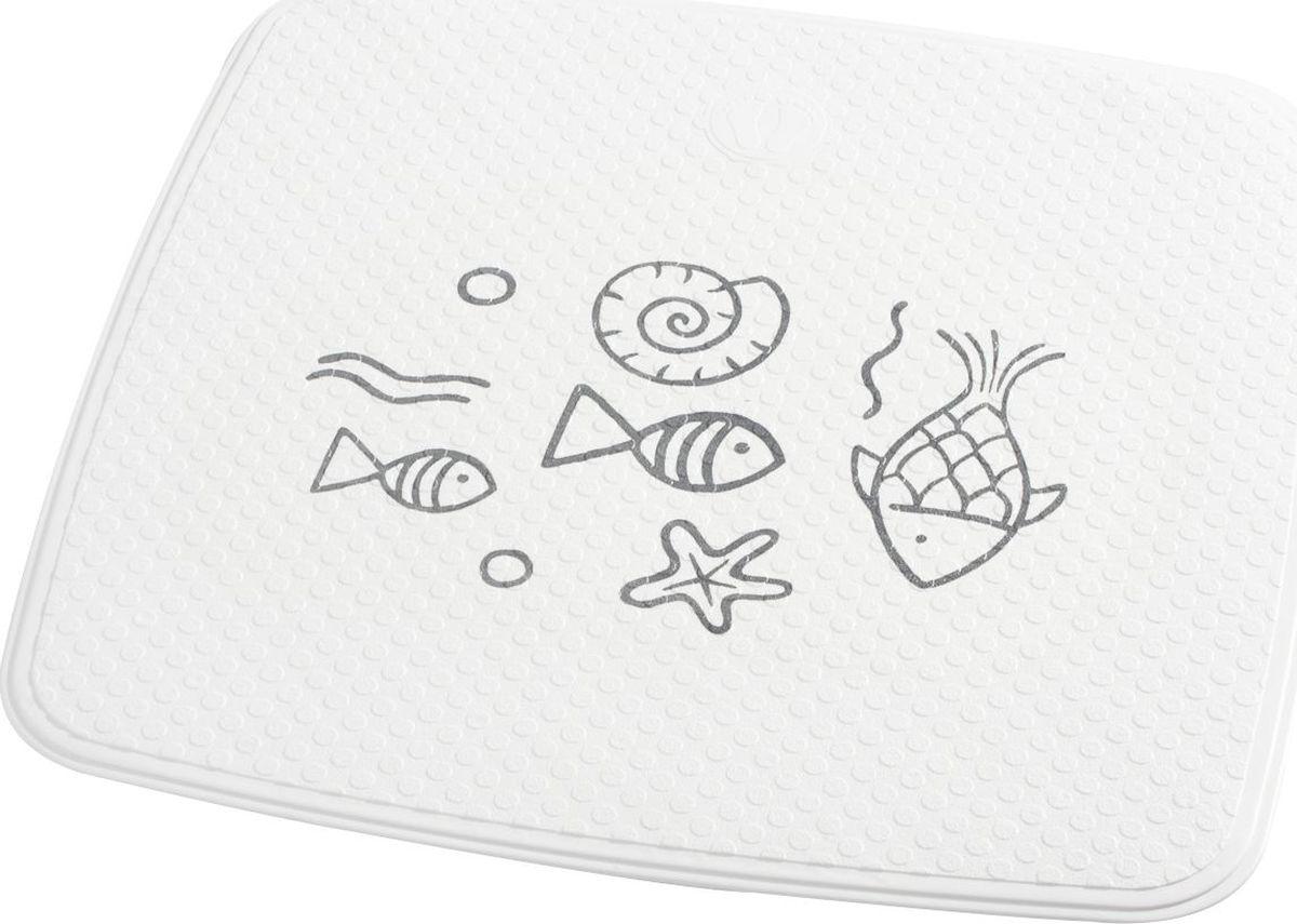 Коврик для ванной Ridder Neptun, противоскользящий, на присосках, цвет: серый, 54 х 54 см коврик для ванной ridder park противоскользящий на присосках цвет бежевый 54 х 54 см