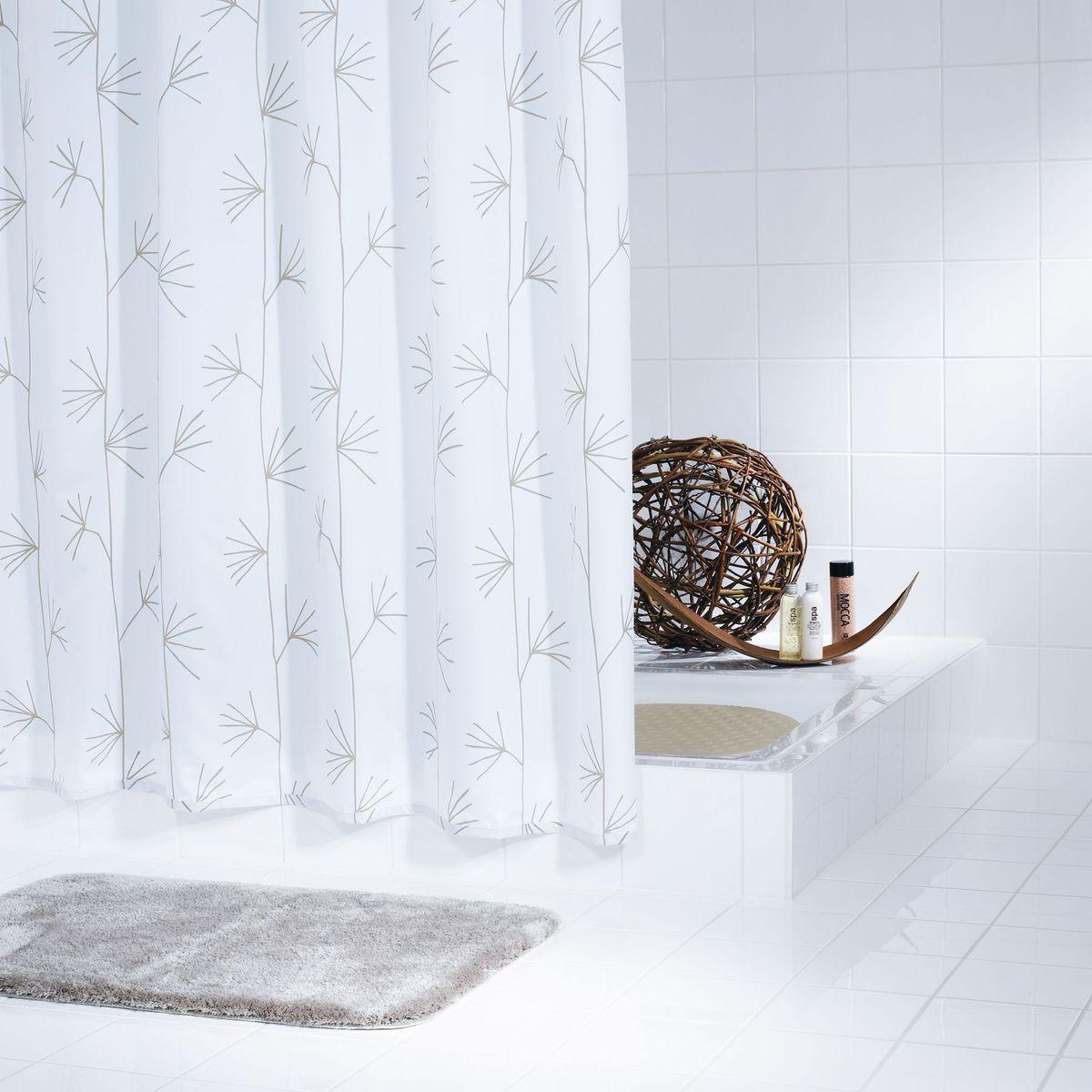 Штора для ванной комнаты Ridder Yucca, цвет: белый , 180 х 200 см штора для ванной комнаты vanstore zober цвет белый 180 х 180 см