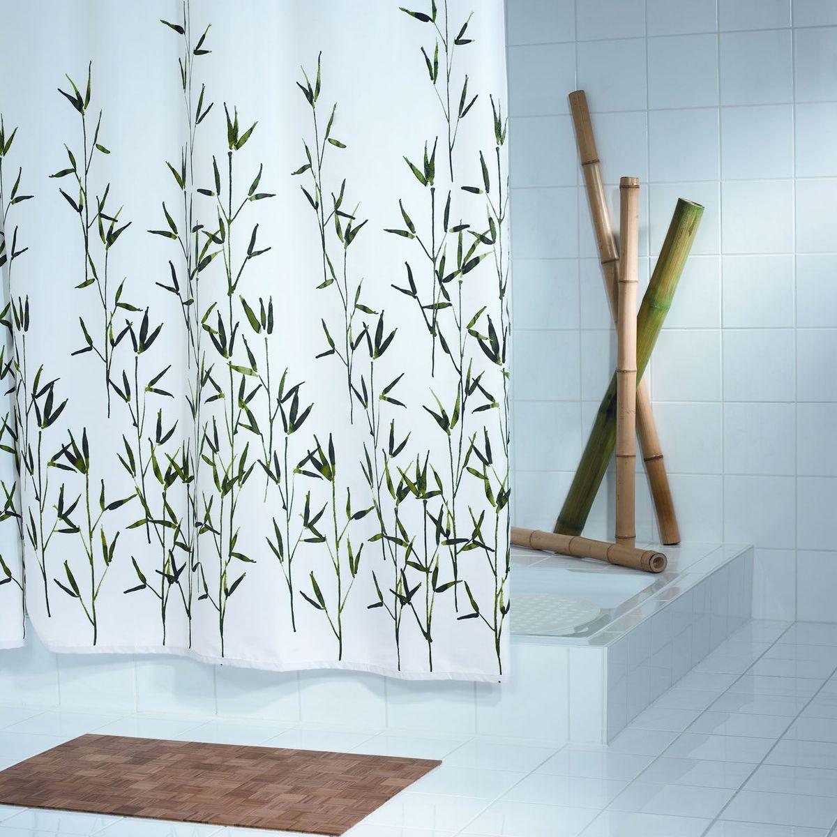"""Штора для ванной комнаты Ridder """"Bambus"""", цвет: зеленый, 180 х 200 см"""