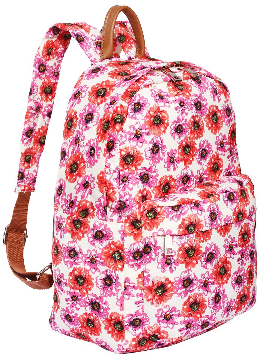 Рюкзак городской женский Pola, цвет: молочный, розовый, красный, 14,5 л. 4345