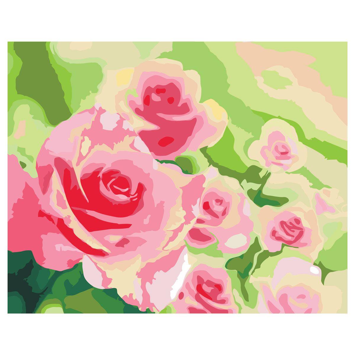 Креатто Набор для росписи по холсту Розы в саду