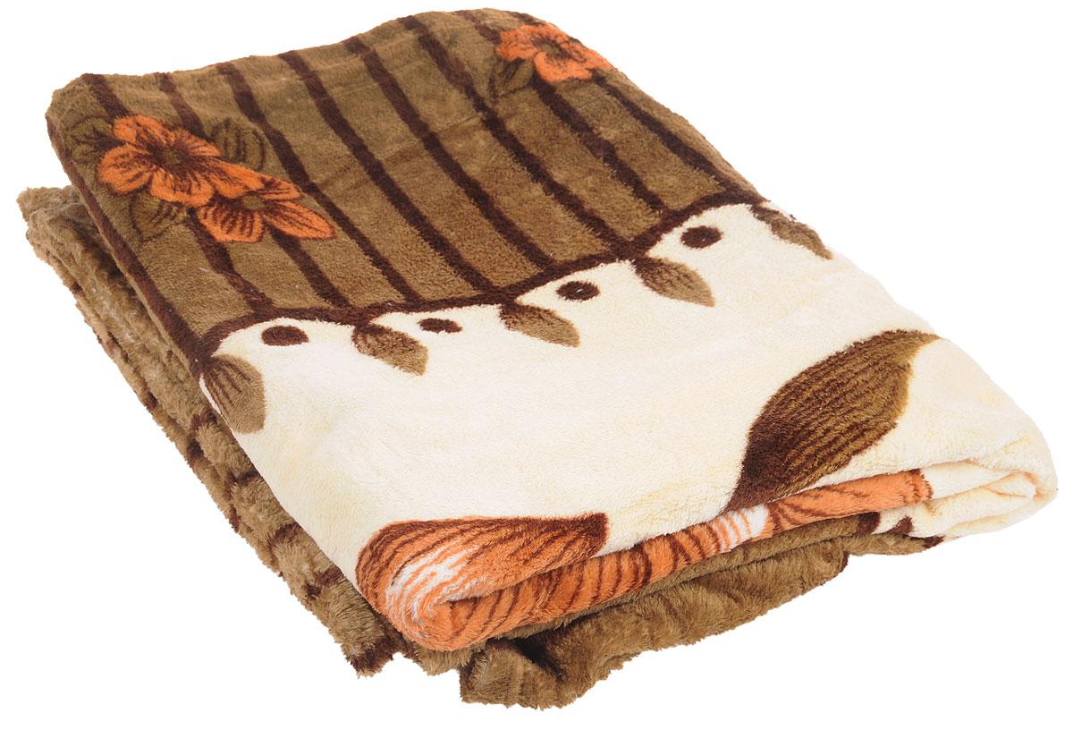 "Плед ""Absolute"", цвет: коричневый, 150 х 200 см 24717"