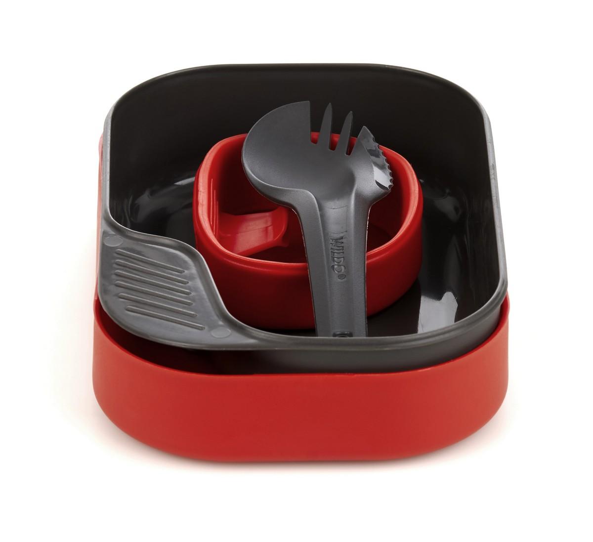 """Набор посуды Wildo """"Camp-a-Box Light"""", портативный, цвет: красный. W20268"""