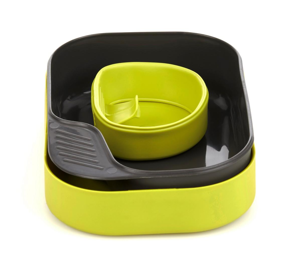 """Набор посуды Wildo """"Camp-a-Box Basic"""", портативный, цвет: лайм. W302611"""