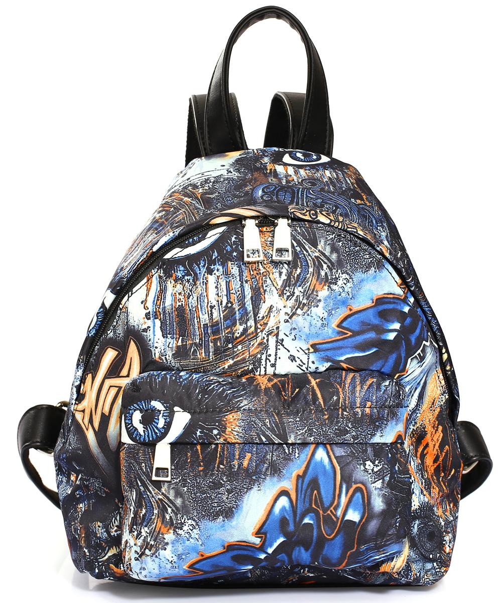 Рюкзак городской женский Pola, цвет: синий, коричневый, черный, 10 л. 4349